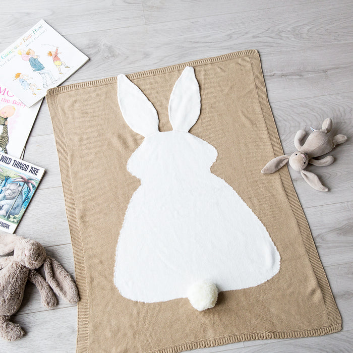 Personalised Bunny Baby Blanket