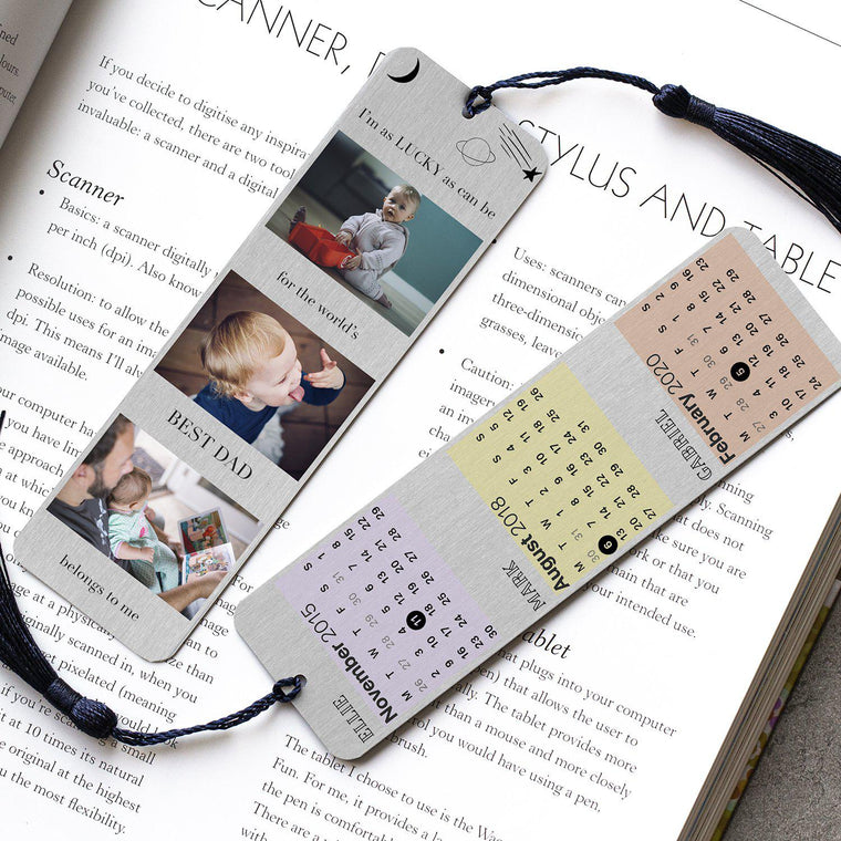 Personalised Special Occasional Calendar Photo Bookmark