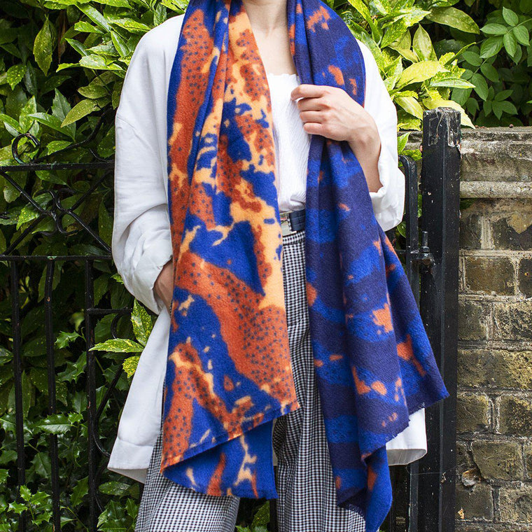 Personalised Organic Abstract Gauze Scarf