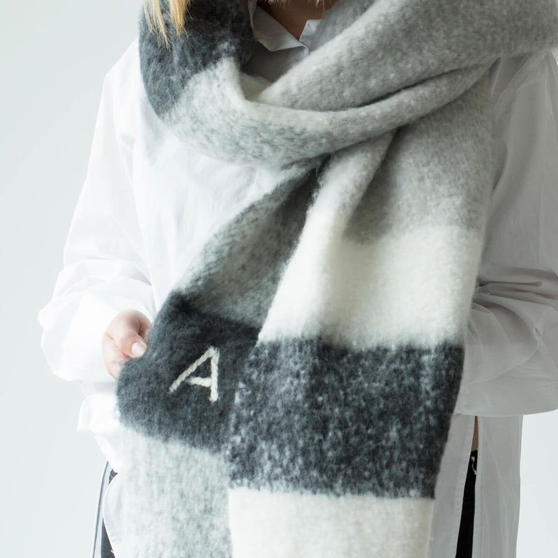 Personalised Chunky Neutral Blanket Scarf