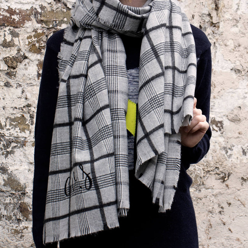 Personalised Check Twill Scarf