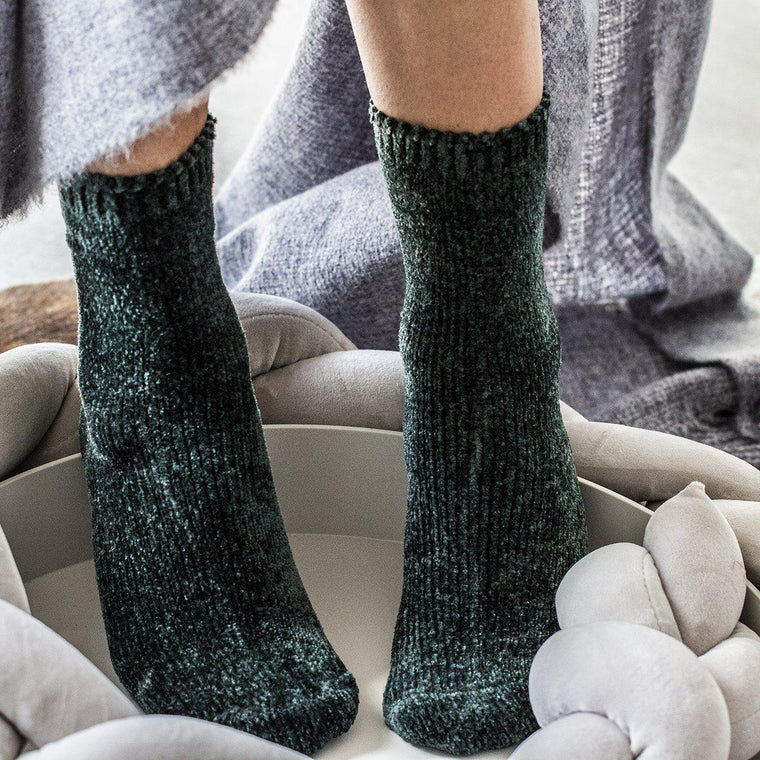 Chenille Socks in a Gift Box