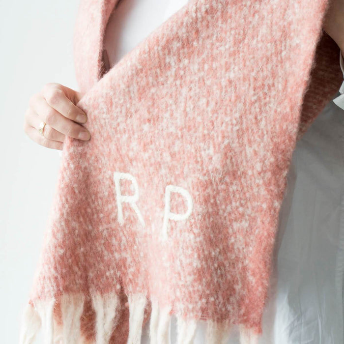 Personalised Chunky Knit Fleck Blanket Scarf