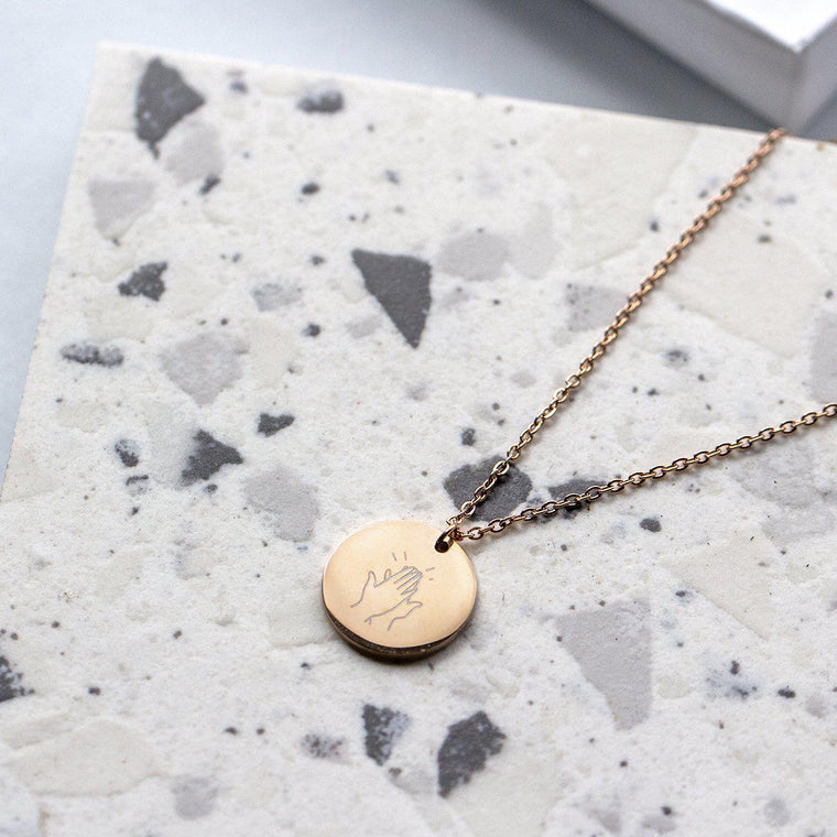 Thank You Our Key Worker Pendant Necklace-Necklace-Studio Hop-Gold-Studio Hop