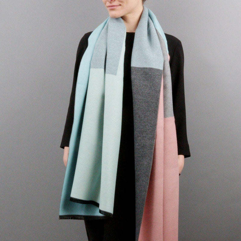 Colourblock Cashmere & Modal Shawl