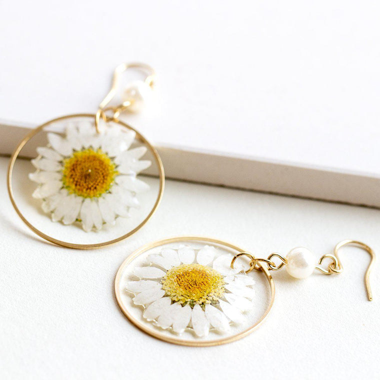 Captured Daisy Earrings