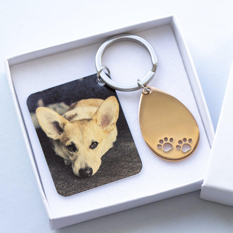 Man's Best Friend Photo Keyring Letterbox Gift