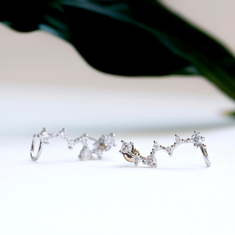 Starlight Crystal Ear Cuff Duo