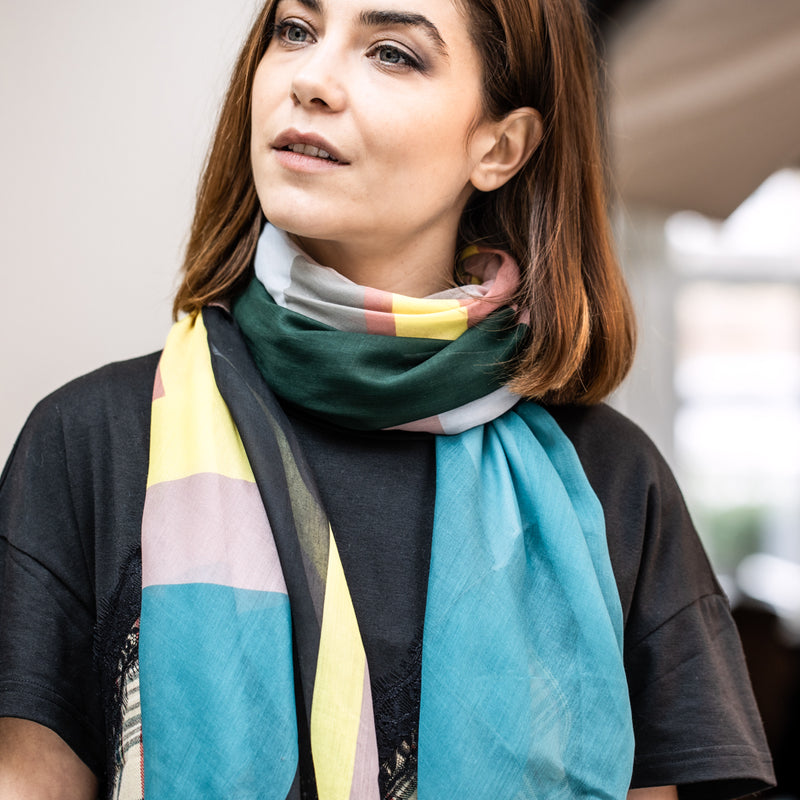 Personalised Eco Geometric Print Scarf