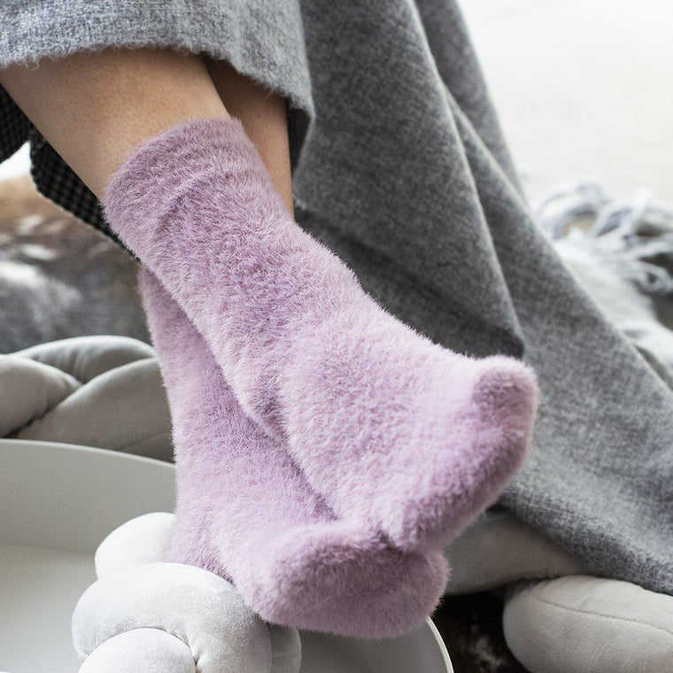 Fluffy Socks in a Gift Box