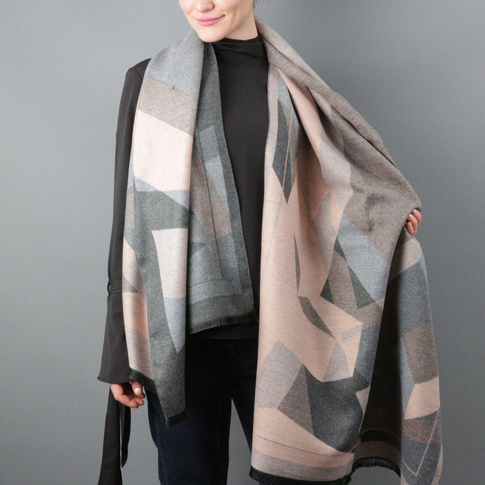 Personalised Cashmere And Geometry Shawl