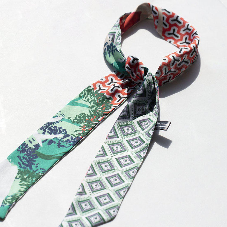 Geometric Mix Pattern Ladies Neck Tie