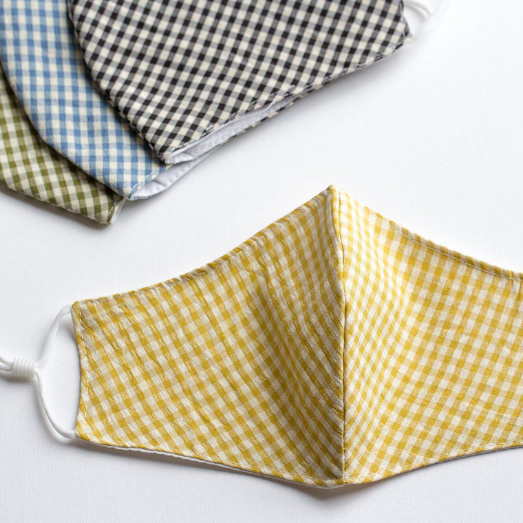 Reusable Washable Gingham Cotton Face Mask