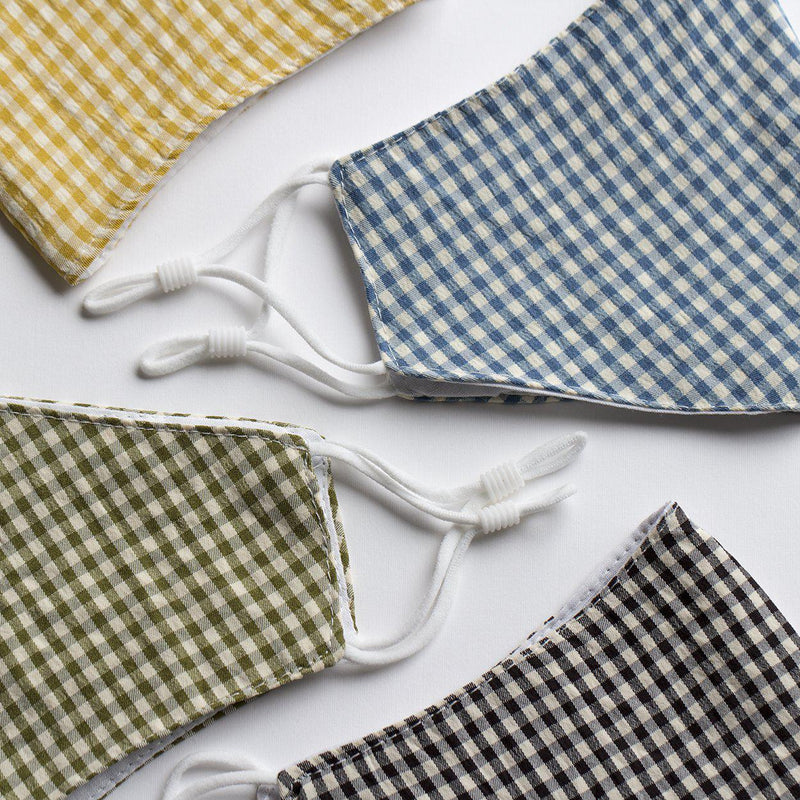 Reusable Washable Gingham Cotton Face Mask-Studio Hop-Single Pack-Studio Hop