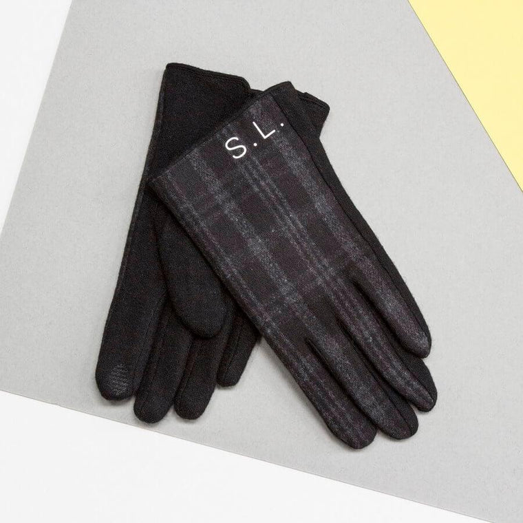 Personalised Men's Merino Wool gloves
