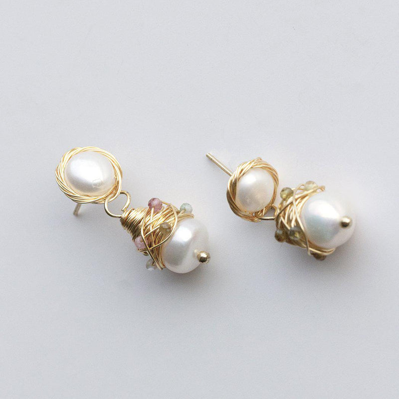 hand-made-pearl-drop-colourful-earring