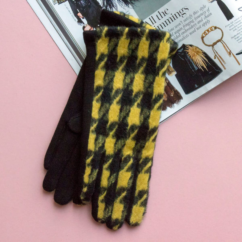 Merino Wool Herringbone Gloves