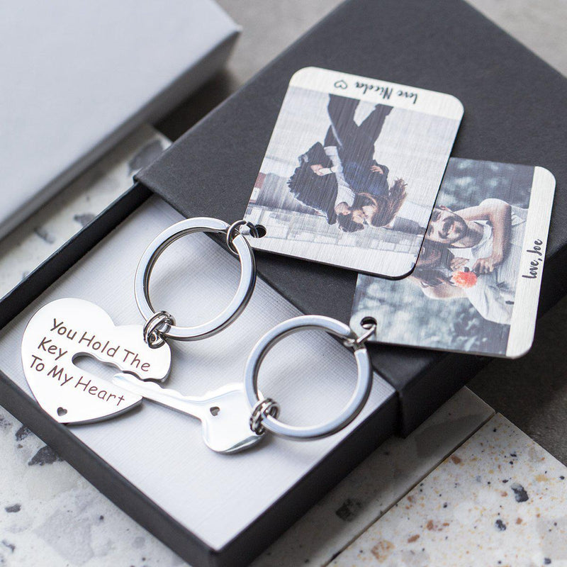 the-key-to-my-heart-photo-keyring-duo