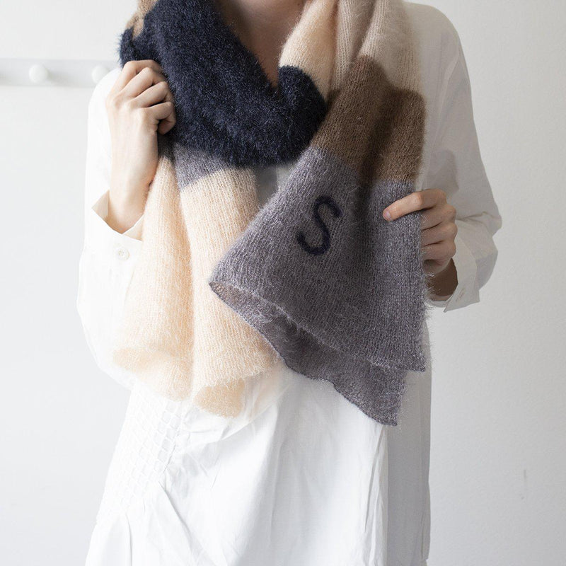 personalised-fluffy-knit-scarf