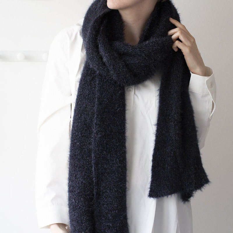 Personalised Fluffy Knit Winter Scarf