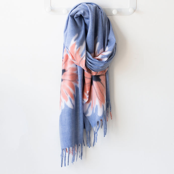Personalised Soft Floral Blanket Scarf