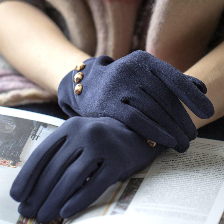 Touch Screen Gloves With Animal Buttons