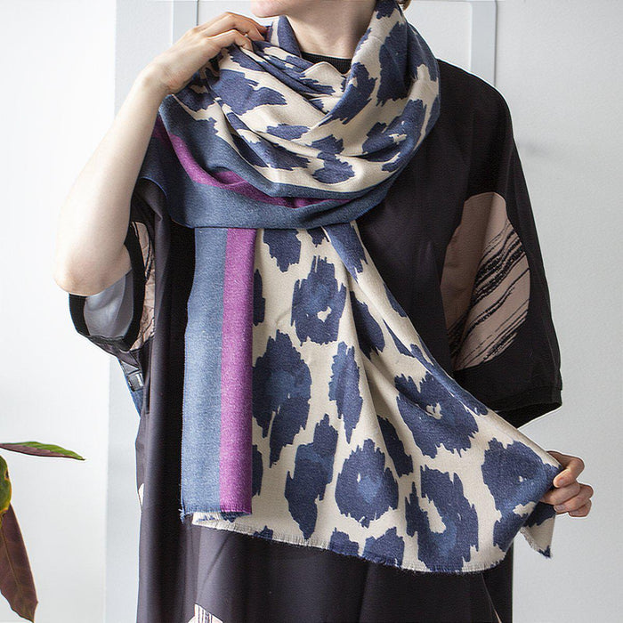 personalised-cashmere-blend-leopard-scarf