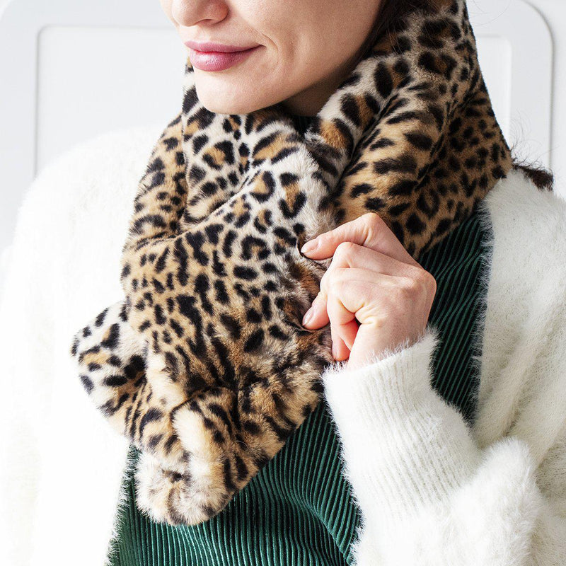 Leopard Finish Crossover Scarf