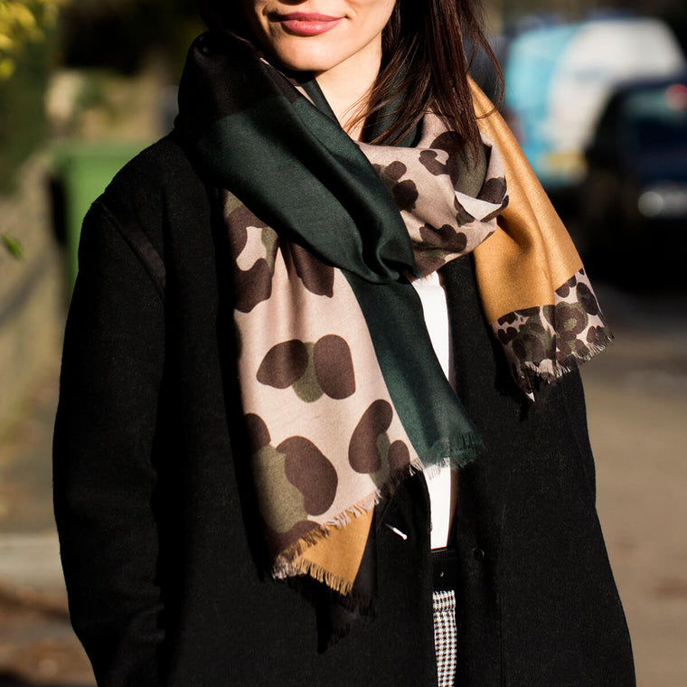 Leopard Patchwork Scarf