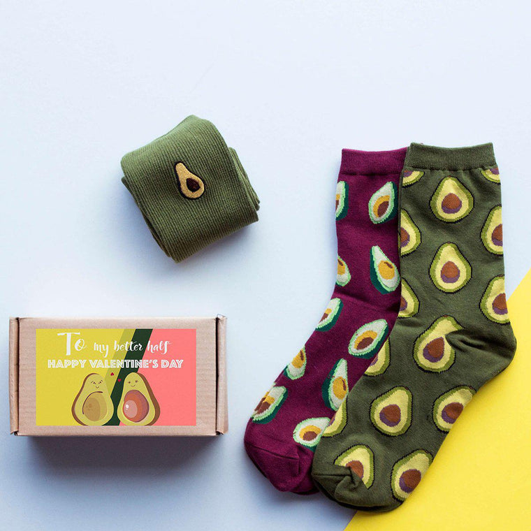 Trio of Avocado Box of Socks