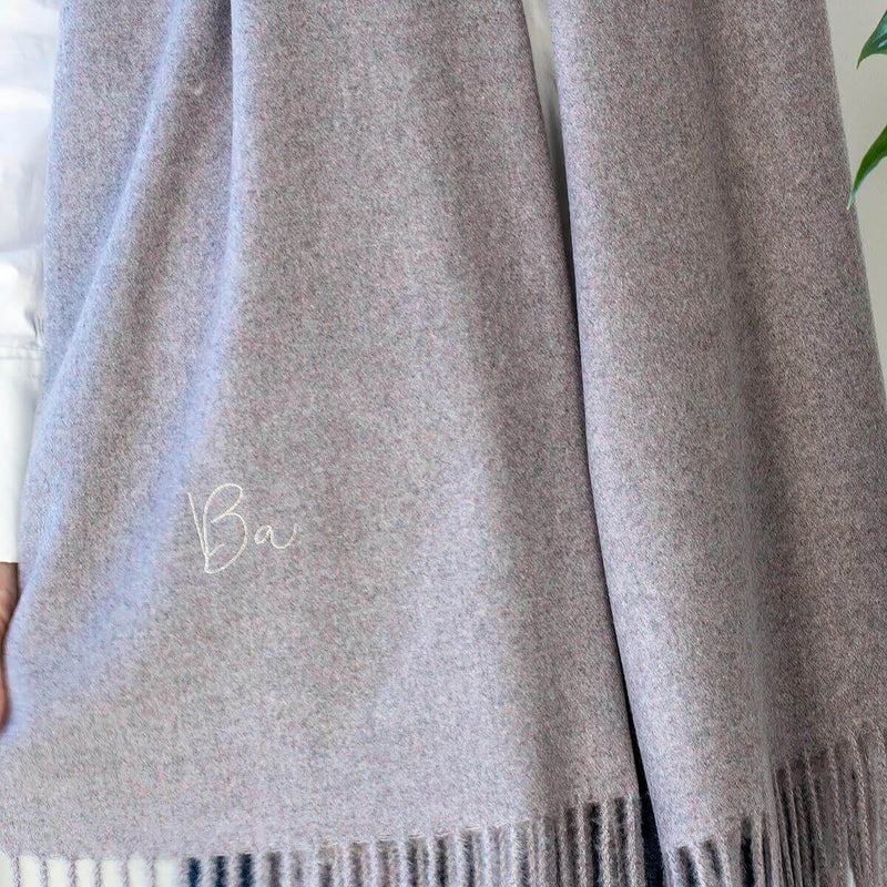 Personalised Brushed Blanket Scarf