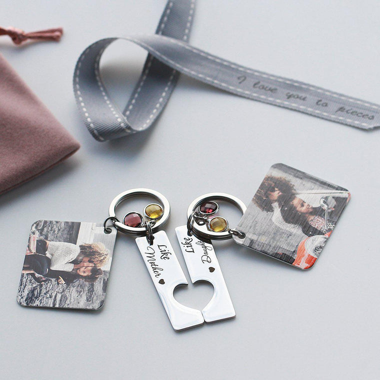 Like Mother Like Daughter Photo Keyring Duo