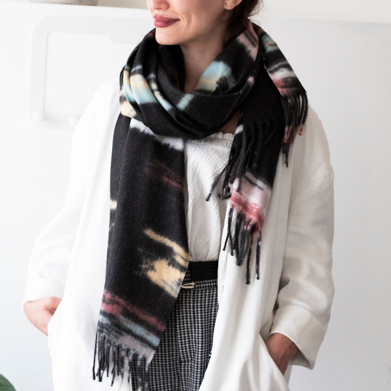 Personalised Marble Effect Cashmere Blend Scarf