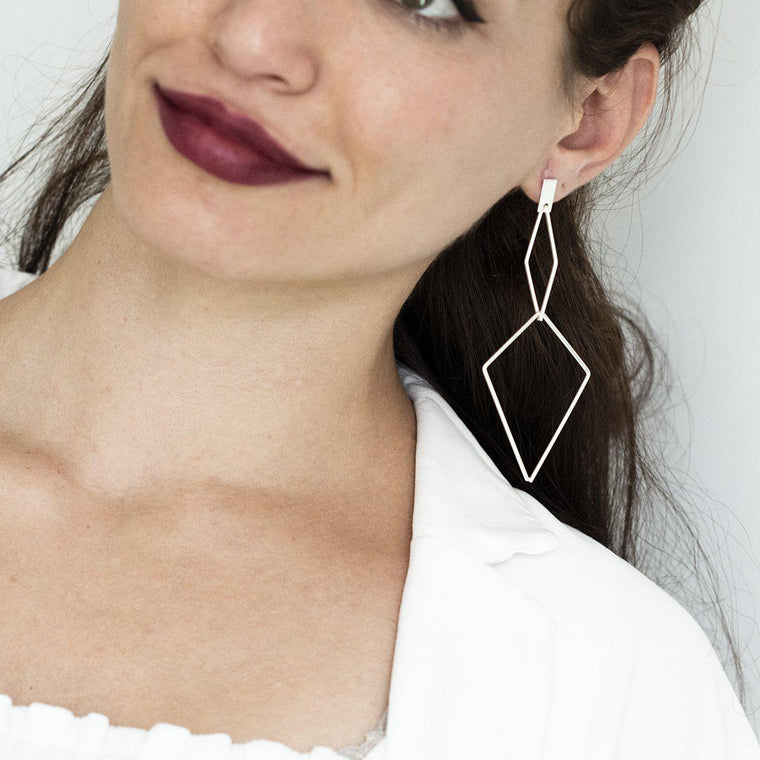 Max Diamond Interlink Earrings