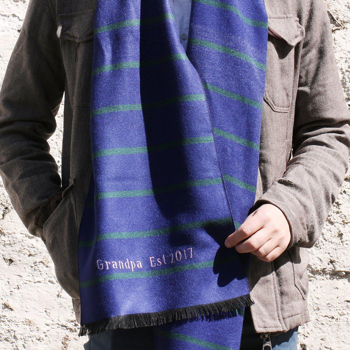 Personalised Men's Bright Stripe Scarf