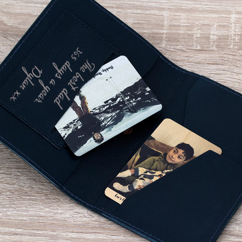 Men's Personalised Leather Travel Wallet