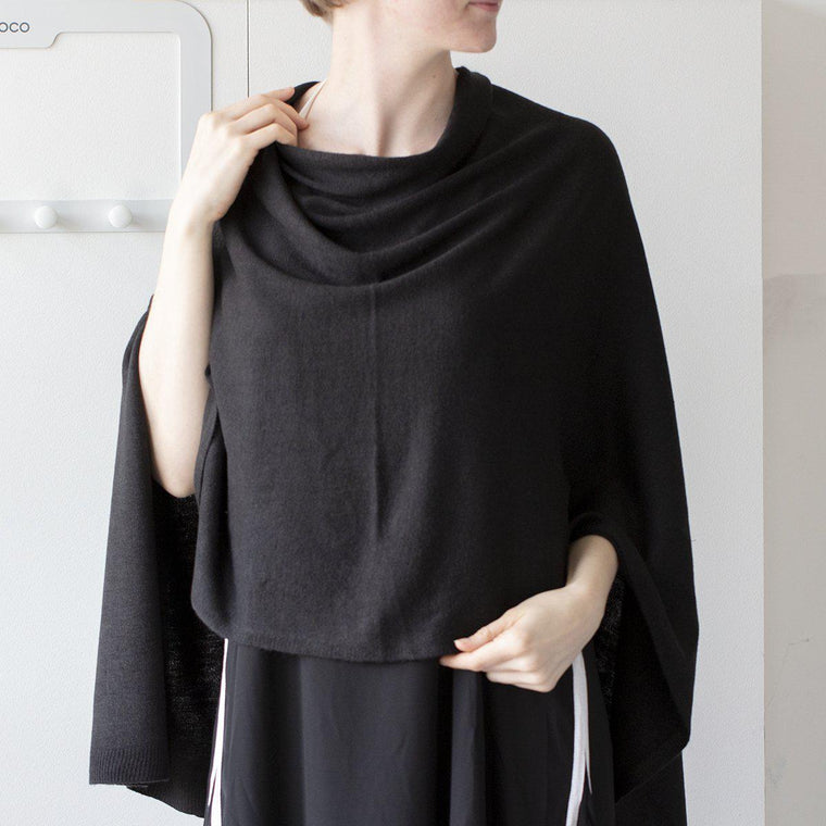 Personalised Minimalist Knit Poncho