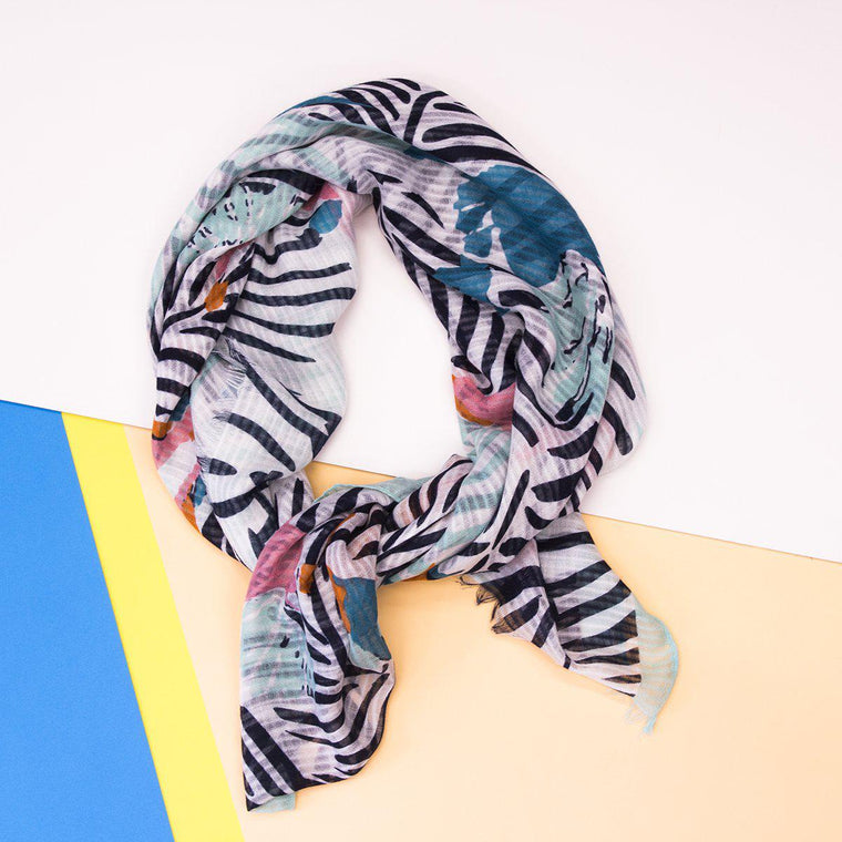 Palm Print Summer Scarf