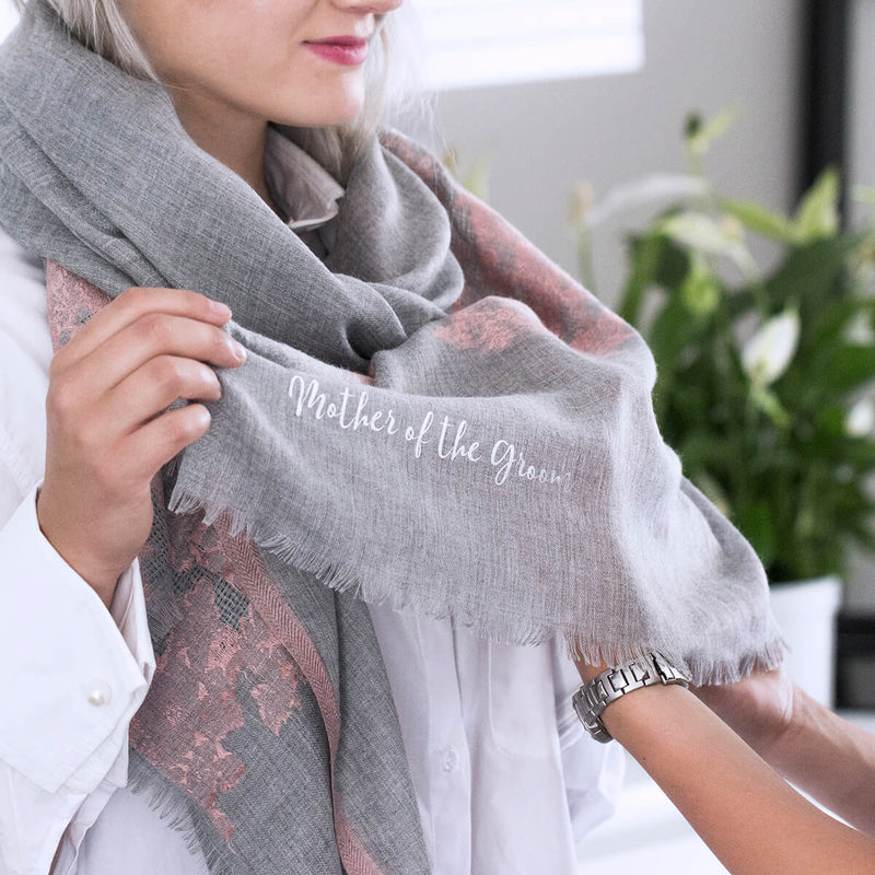 Personalised Cashmere Lace Wedding Scarf