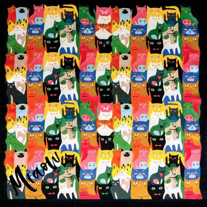 Personalised Cat Collective Silky Scarf