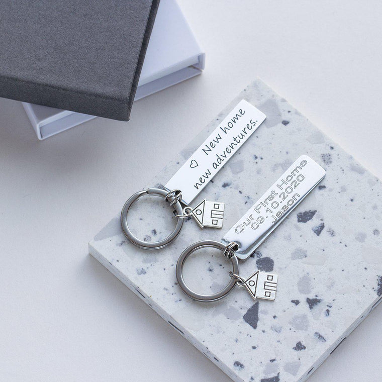 New House New Adventure Photo Keyring-Keyrings-Studio Hop-Studio Hop
