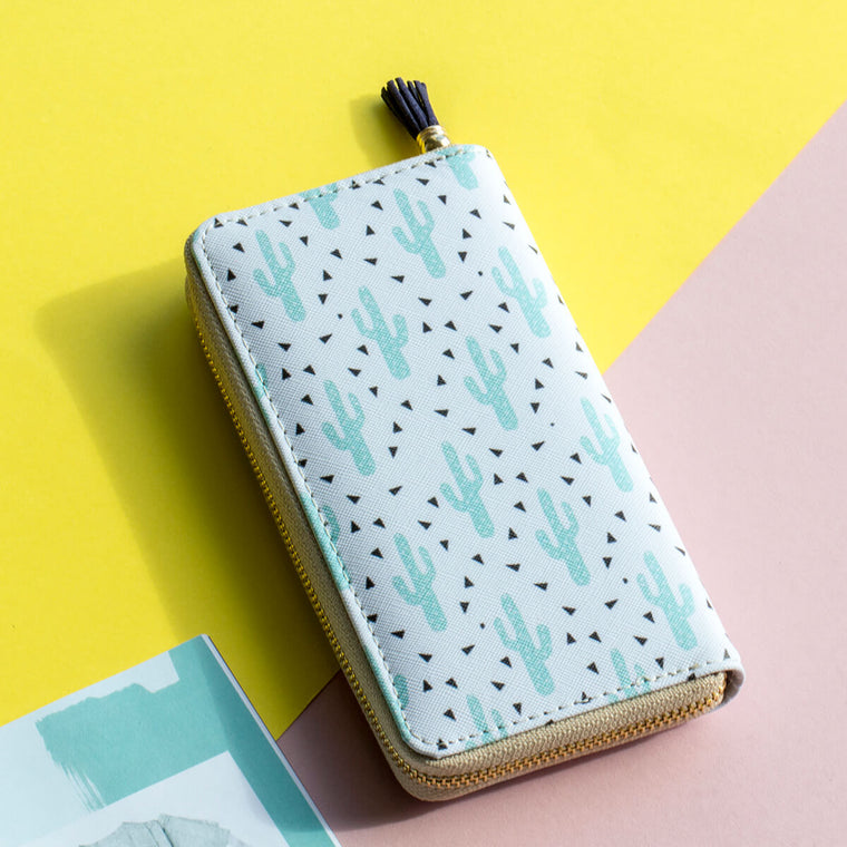 Pastel Spiky Cactus Wallet