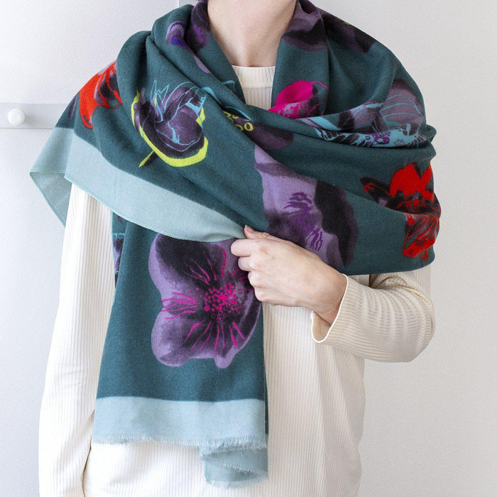 personalised-floral-outline-scarf