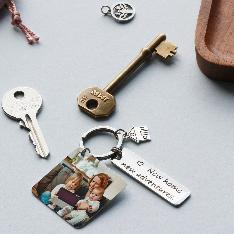 new-house-new-adventure-keyring-with-photo-plate-letterbox-gift