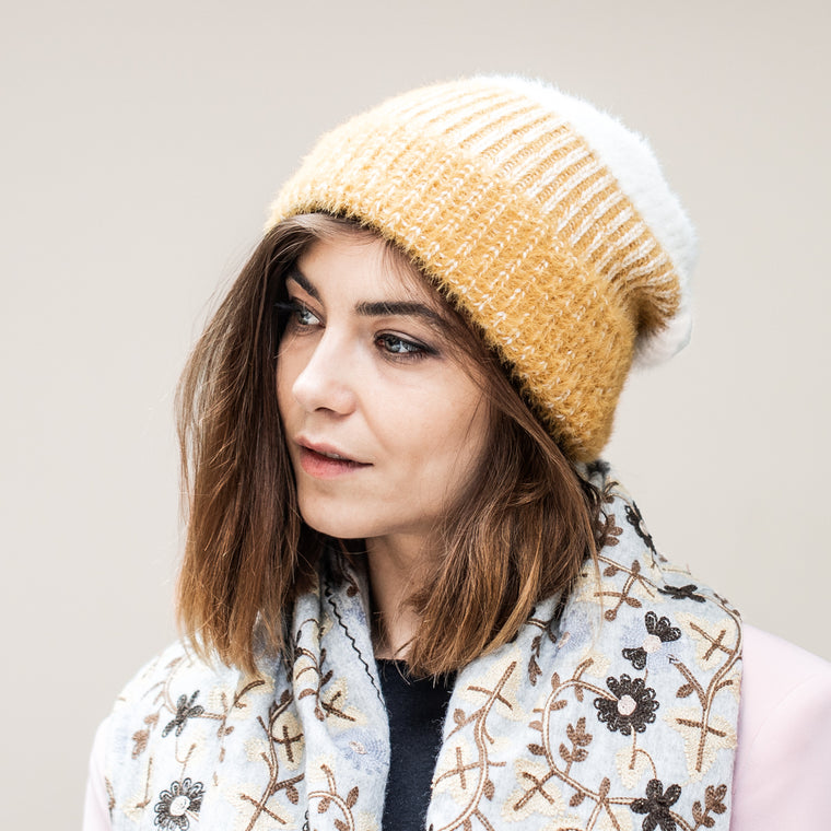 Ombre Knit Beanie Hat