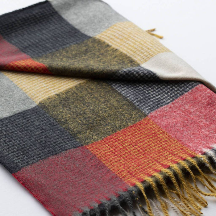 personalised-check-squares-open-weave-scarf