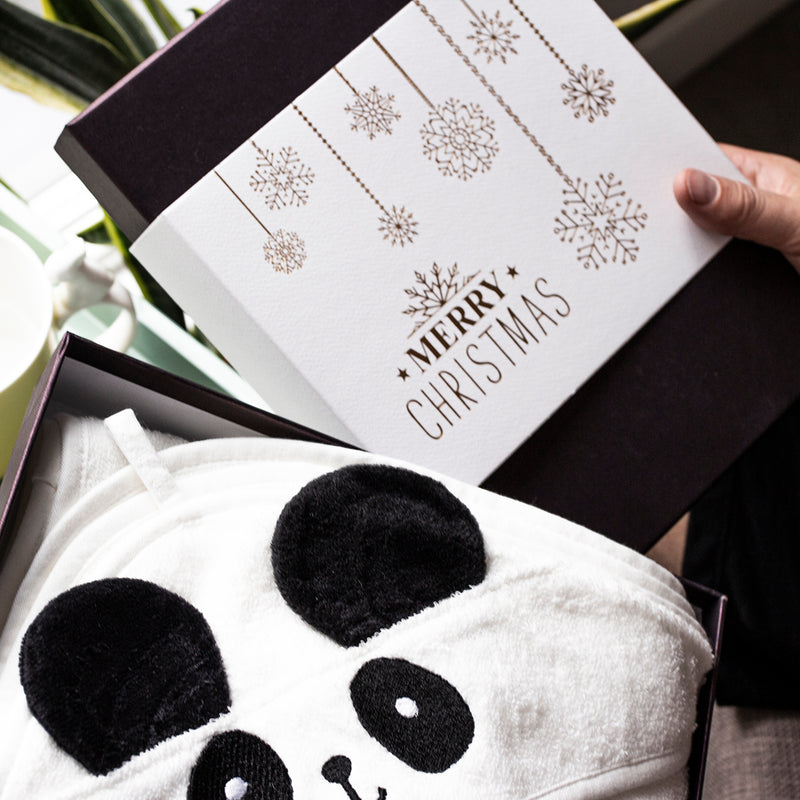 Baby Panda Hooded Cotton Towel