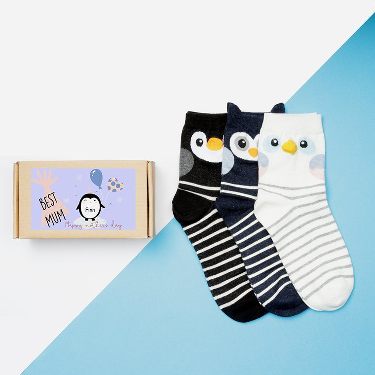 'Penguin Parents' Mother's Day Sock Box