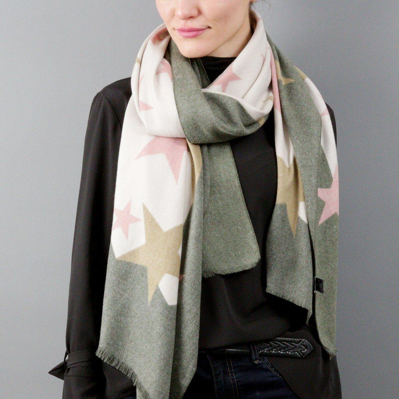 Personalised Cashmere Blend Star Shawl
