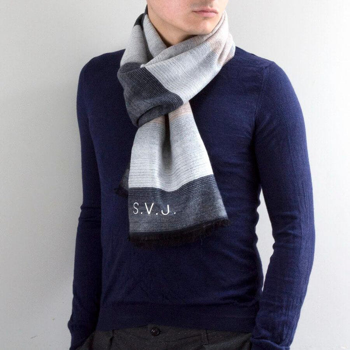 Personalised Men's Cashmere Scarf